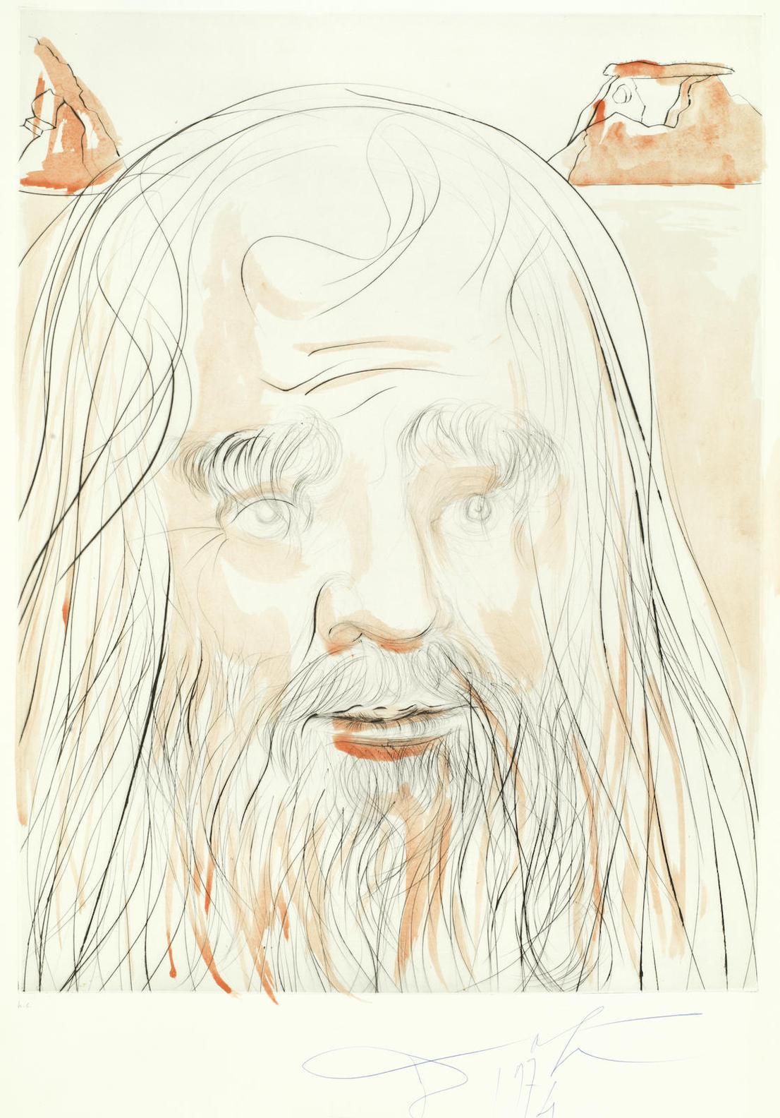 Salvador Dali-Leonardo Da Vinci, From Hommage A Leonardo Da Vinci-1975
