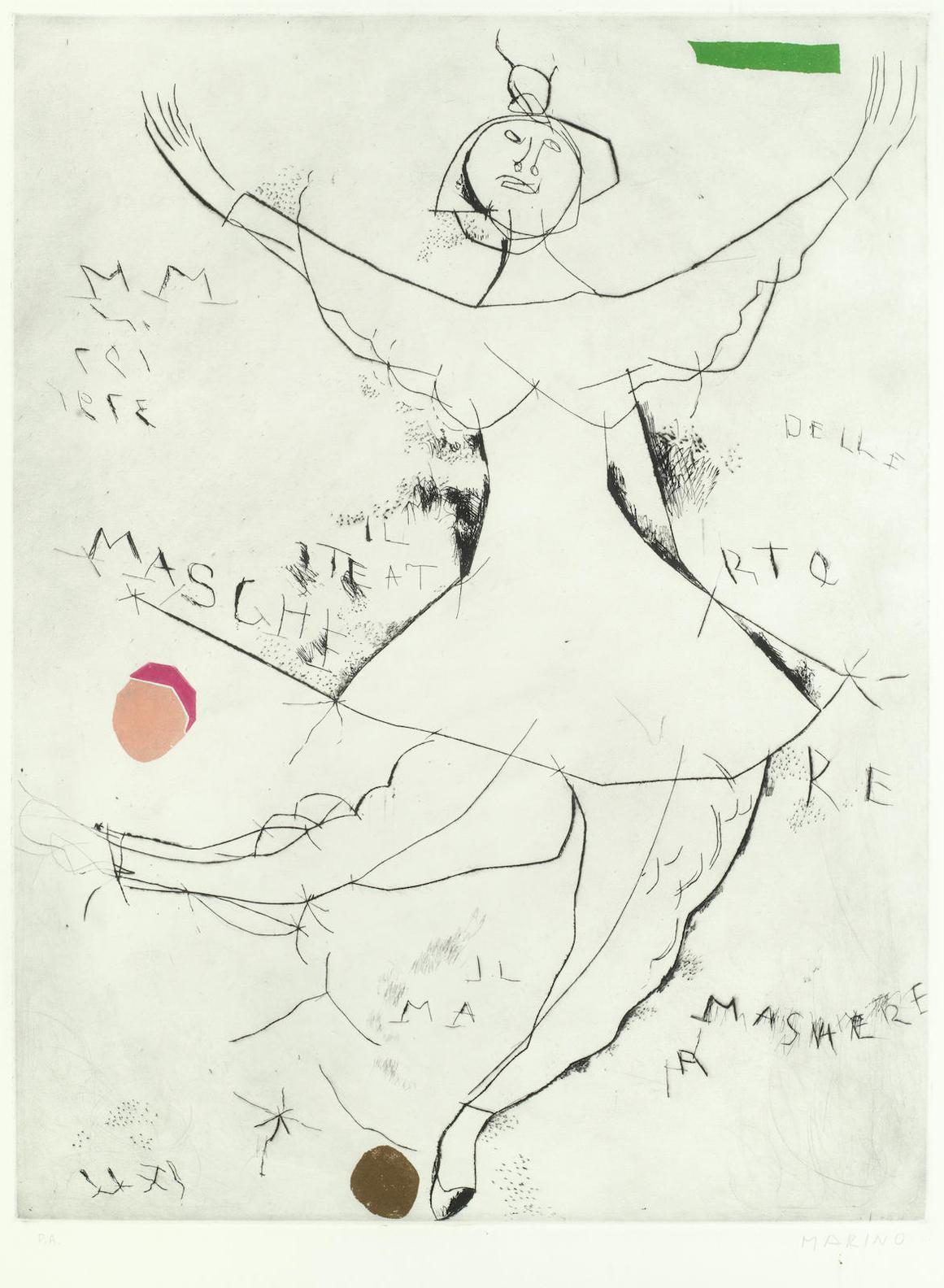 Marino Marini-Danza Minima I-1973