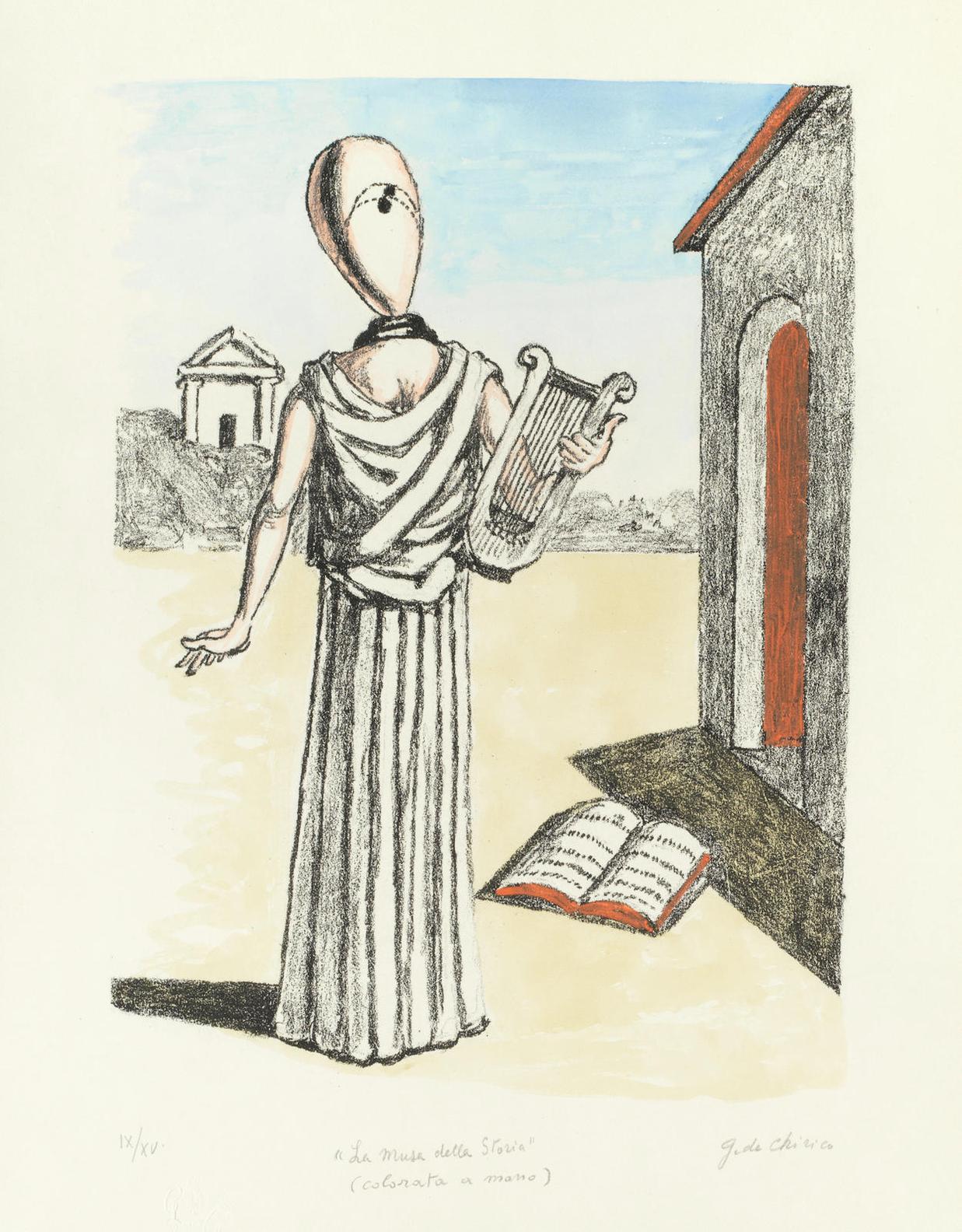 Giorgio de Chirico-La Musa Della Storia-1972