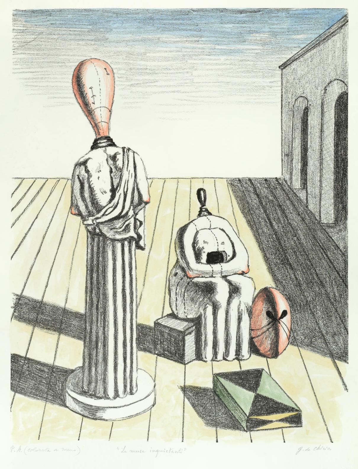 Giorgio de Chirico-Le Muse Inquietanti-1969