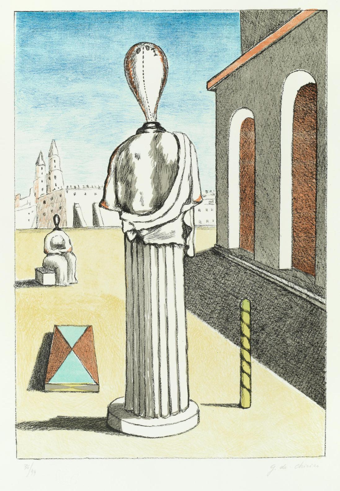 Giorgio de Chirico-La Musa-1973