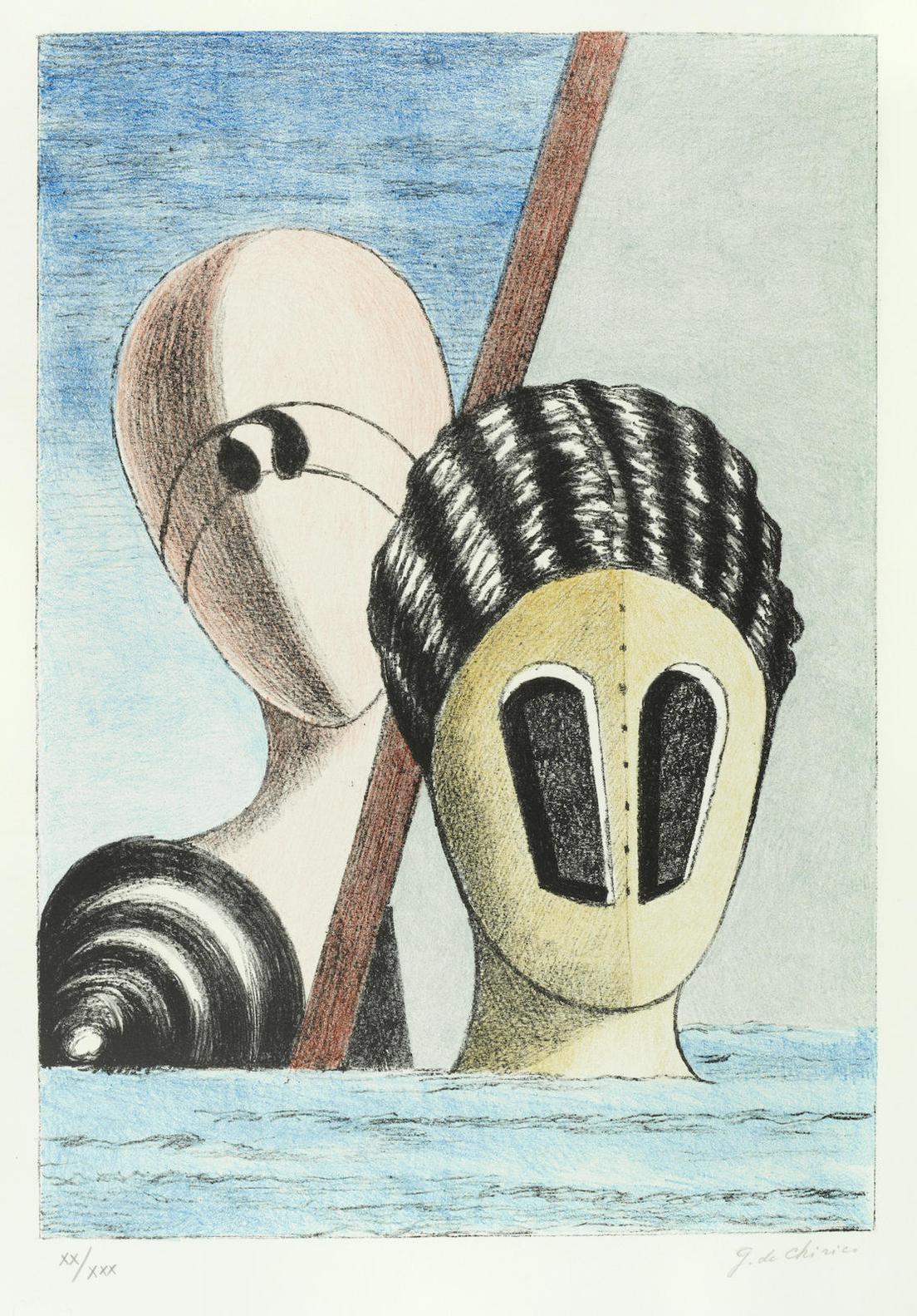 Giorgio de Chirico-Le Maschere-1973
