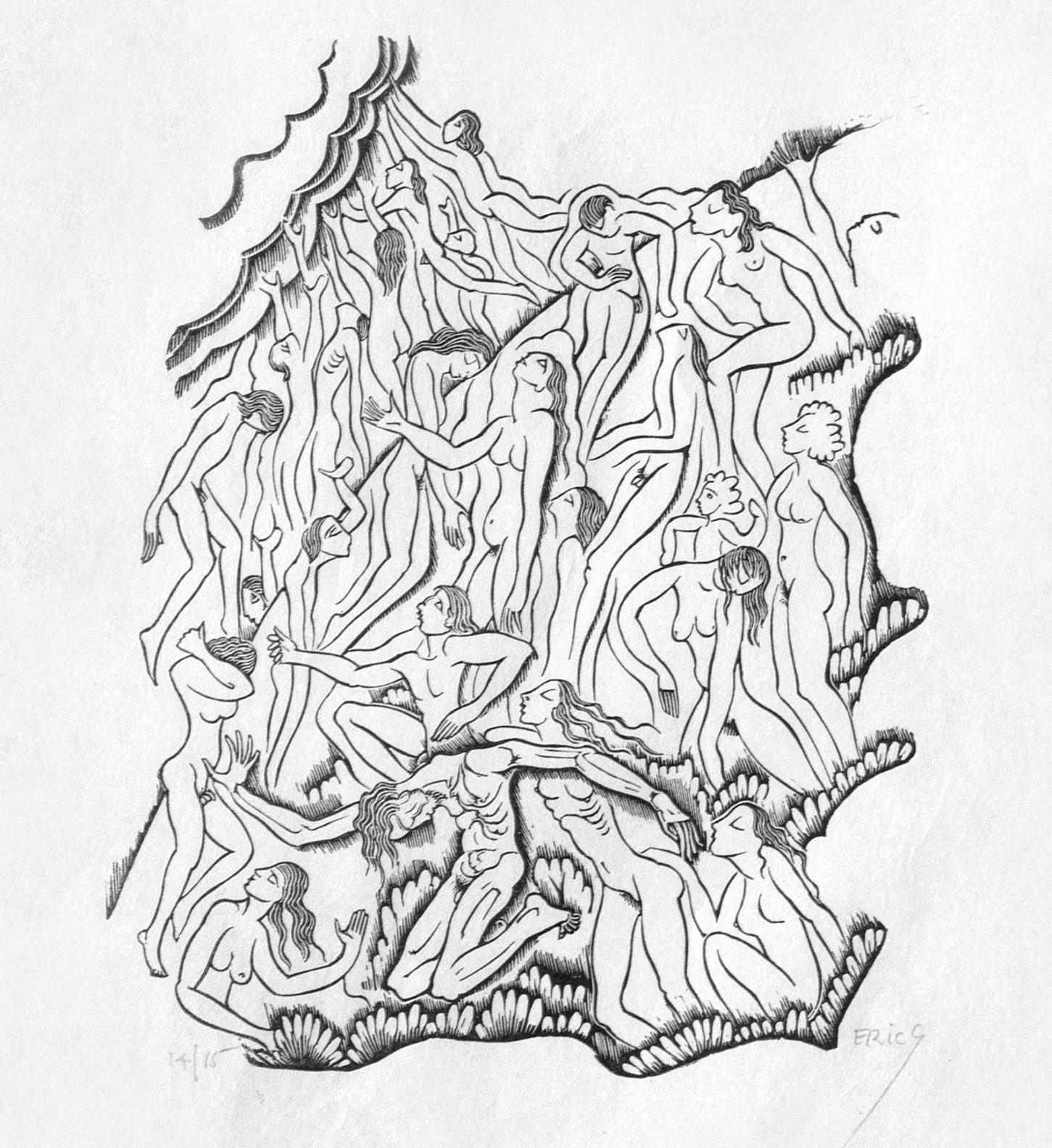 Eric Gill-A Collection (Skelton P107, P163, P167, P256, P331, P387, P893, P963, P977)-1938