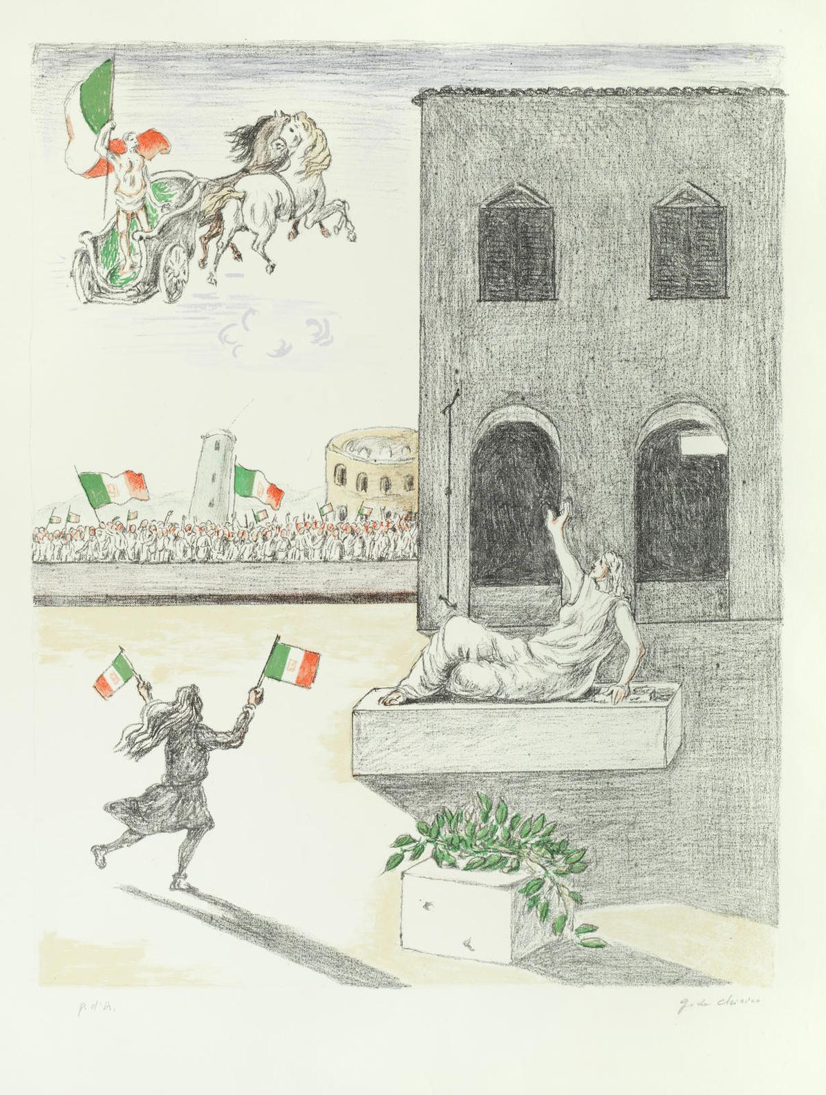 Giorgio de Chirico-Litalia Del Centenario-1971