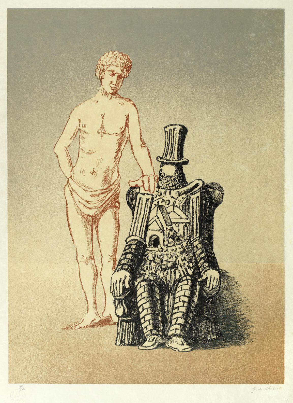 Giorgio de Chirico-Il Riposo Dellarcheologo-1972