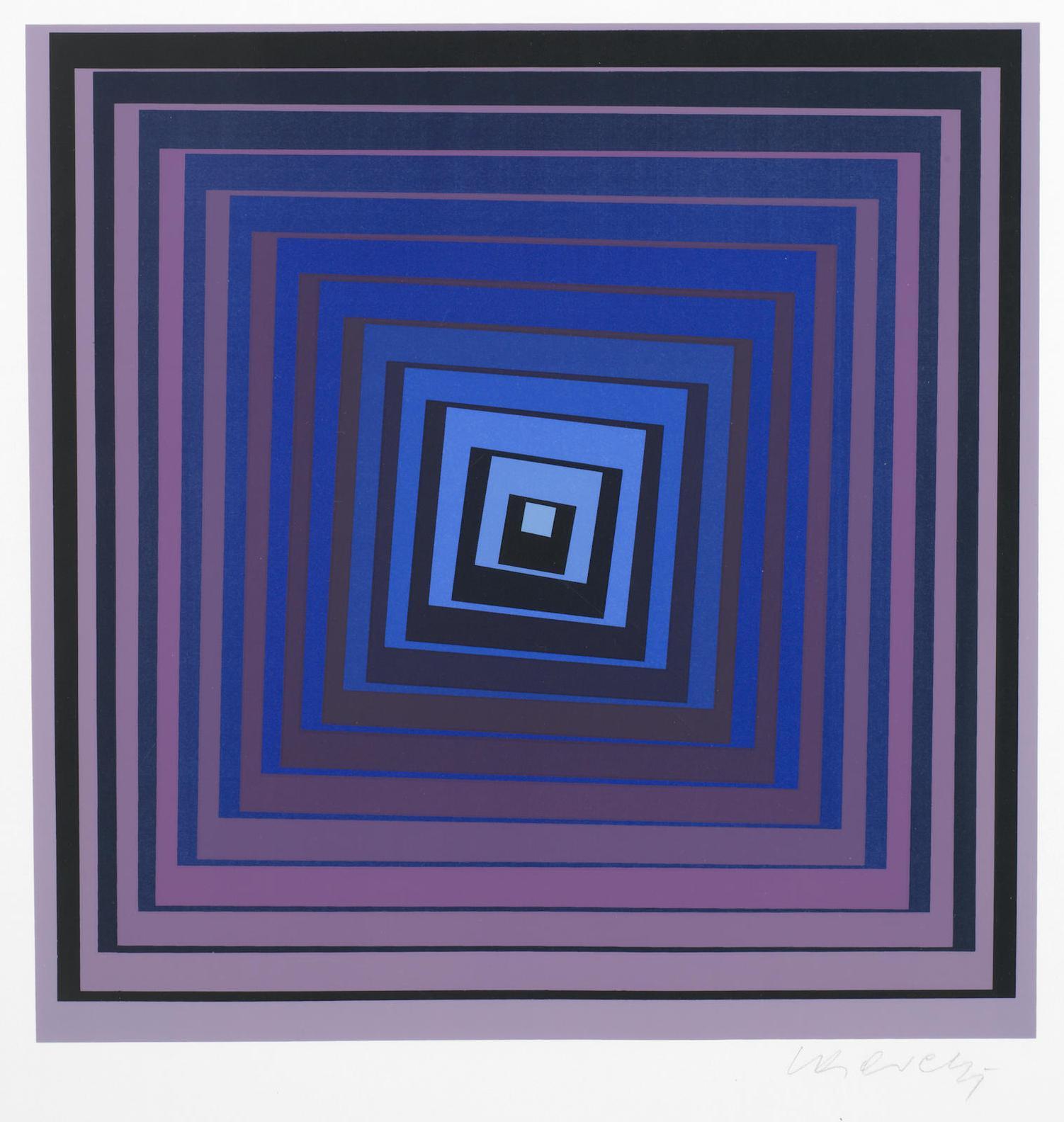 Victor Vasarely-Deuton; Vonal-1969