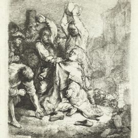Rembrandt van Rijn-The Stoning Of St Stephen-1635