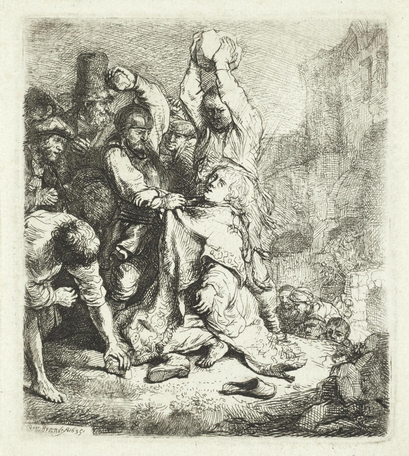 Rembrandt van Rijn-The Stoning Of St Stephen-1635
