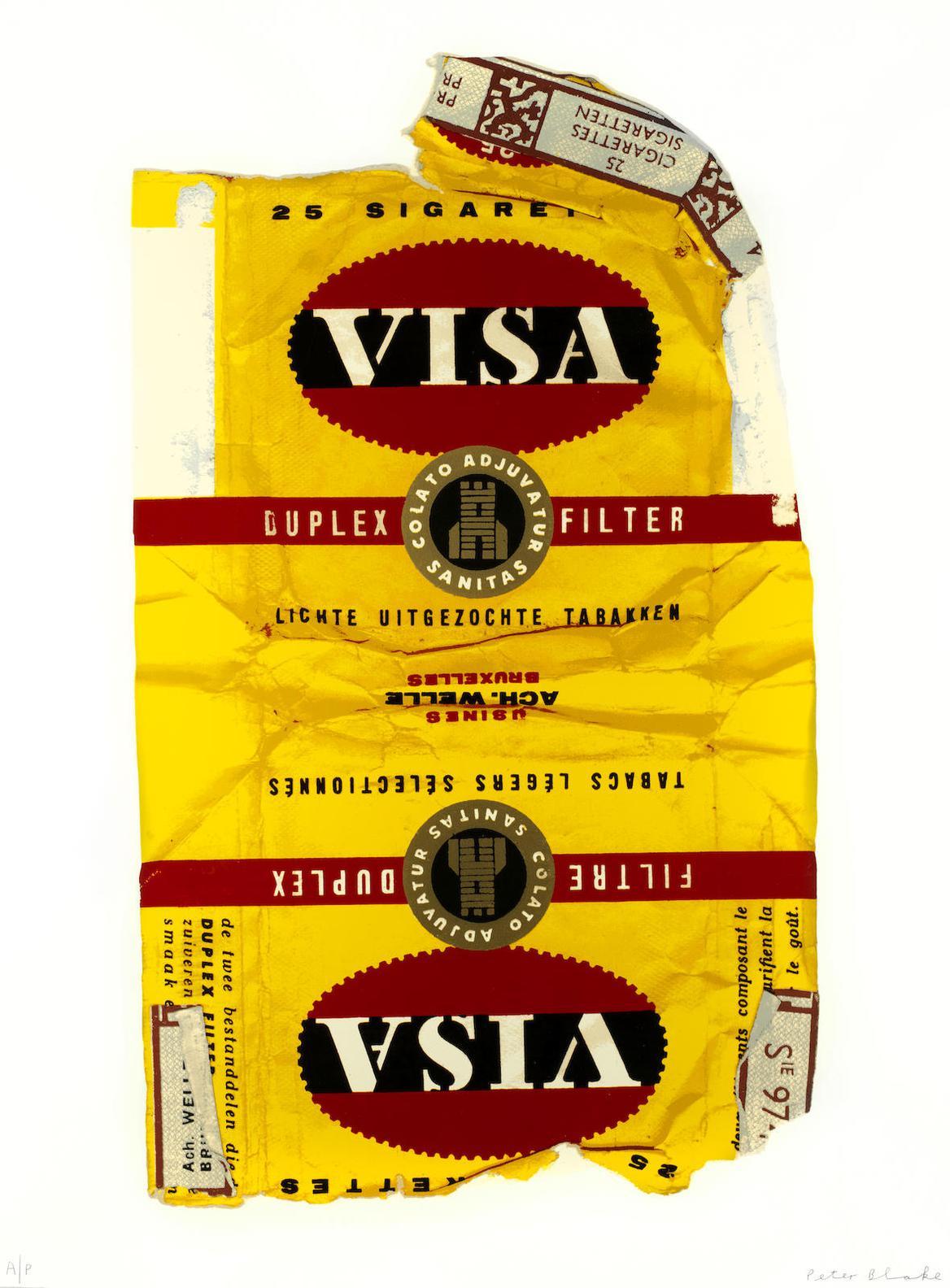 Peter Blake-Fag Packets (Visa)-2005