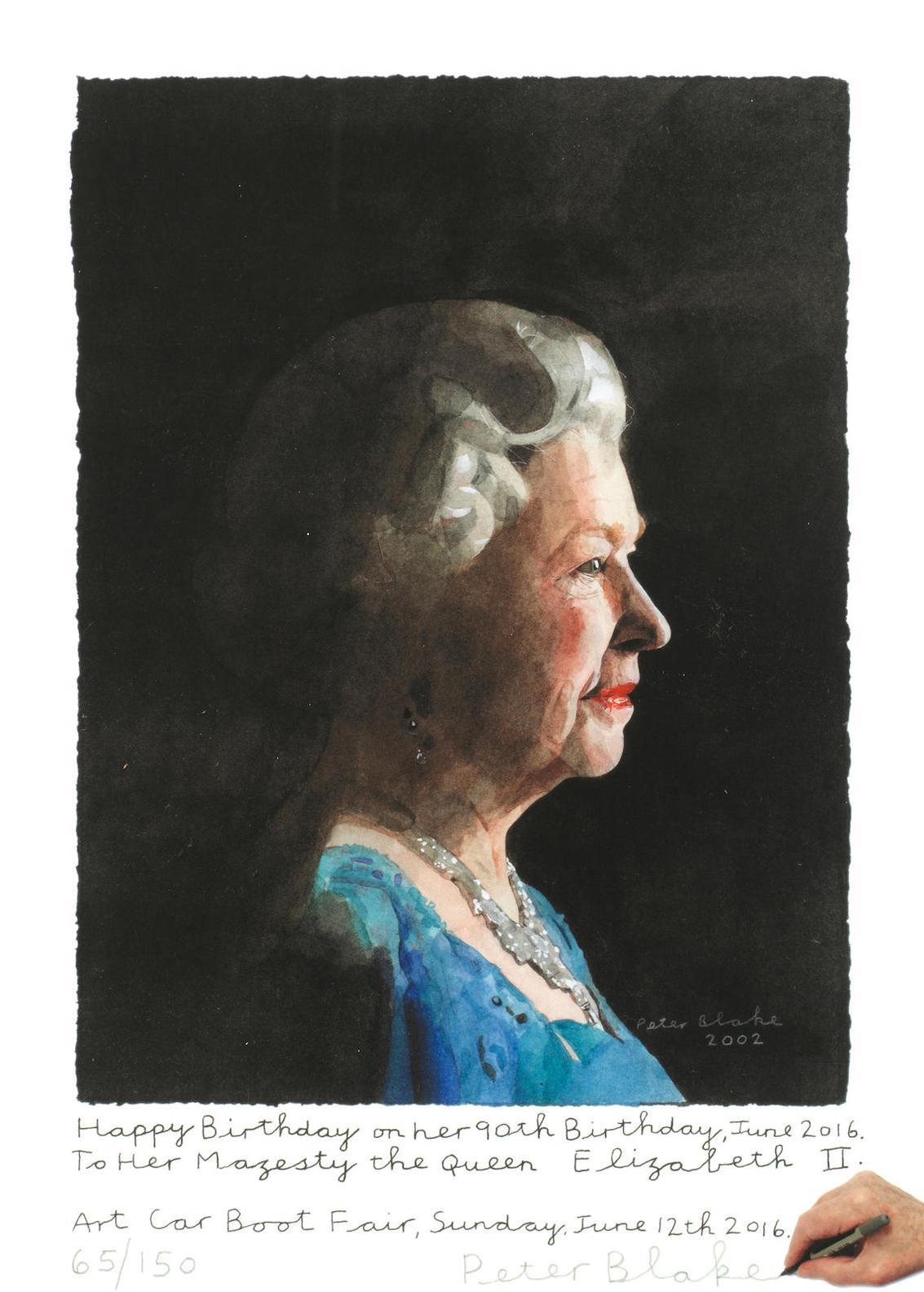 Peter Blake-Her Majesty The Queen Elizabeth II. (Happy Birthday...!)-2016