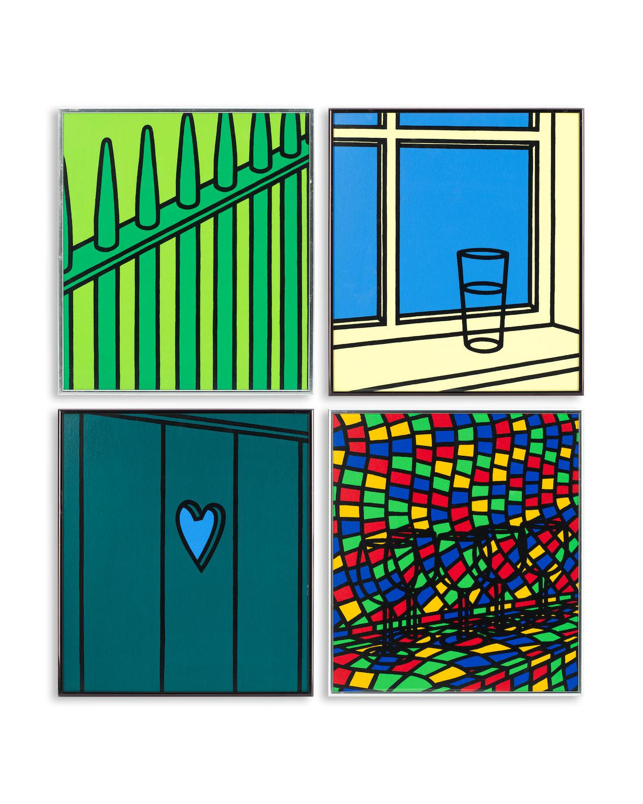 Patrick Caulfield-Four Plates From Jules La Forgue-1973