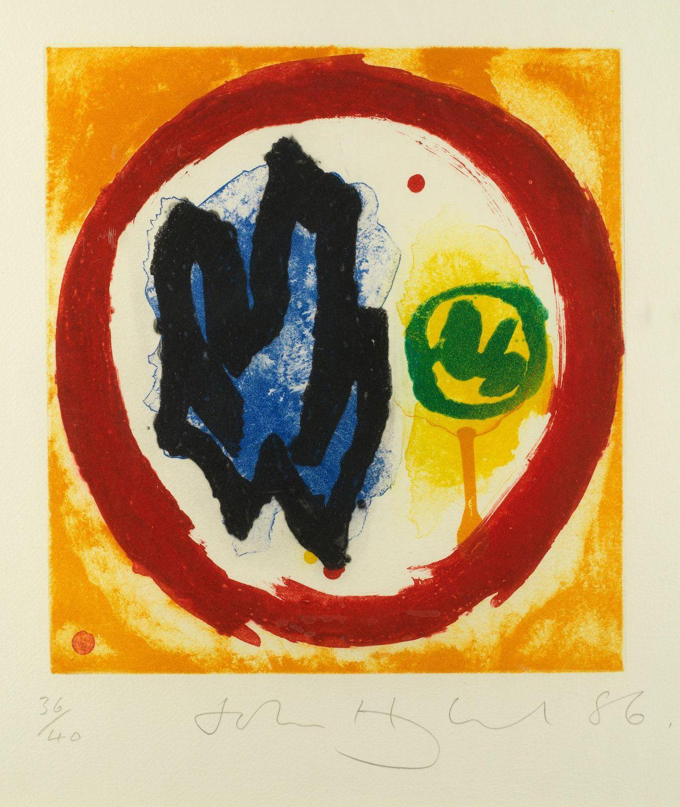 John Hoyland-Kinor; Ekel, From The English Etching Series-1986