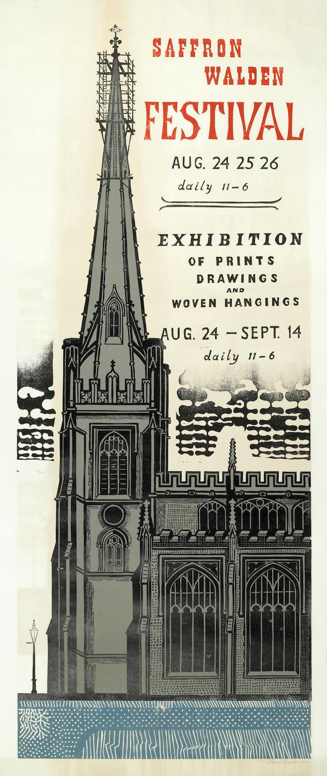Edward Bawden-Saffron Walden Festival Poster-1975