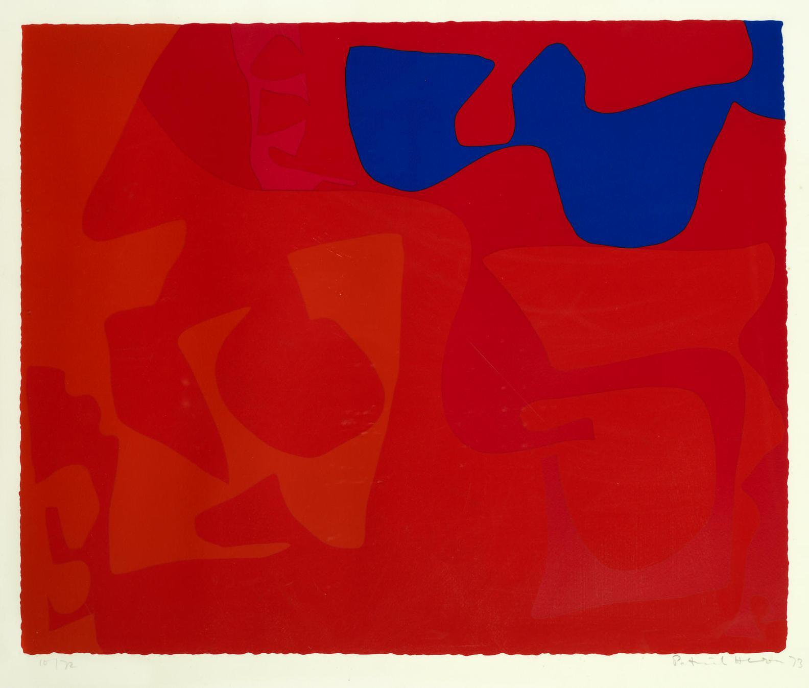 Patrick Heron-Small Red: January 1973 : 4-1973