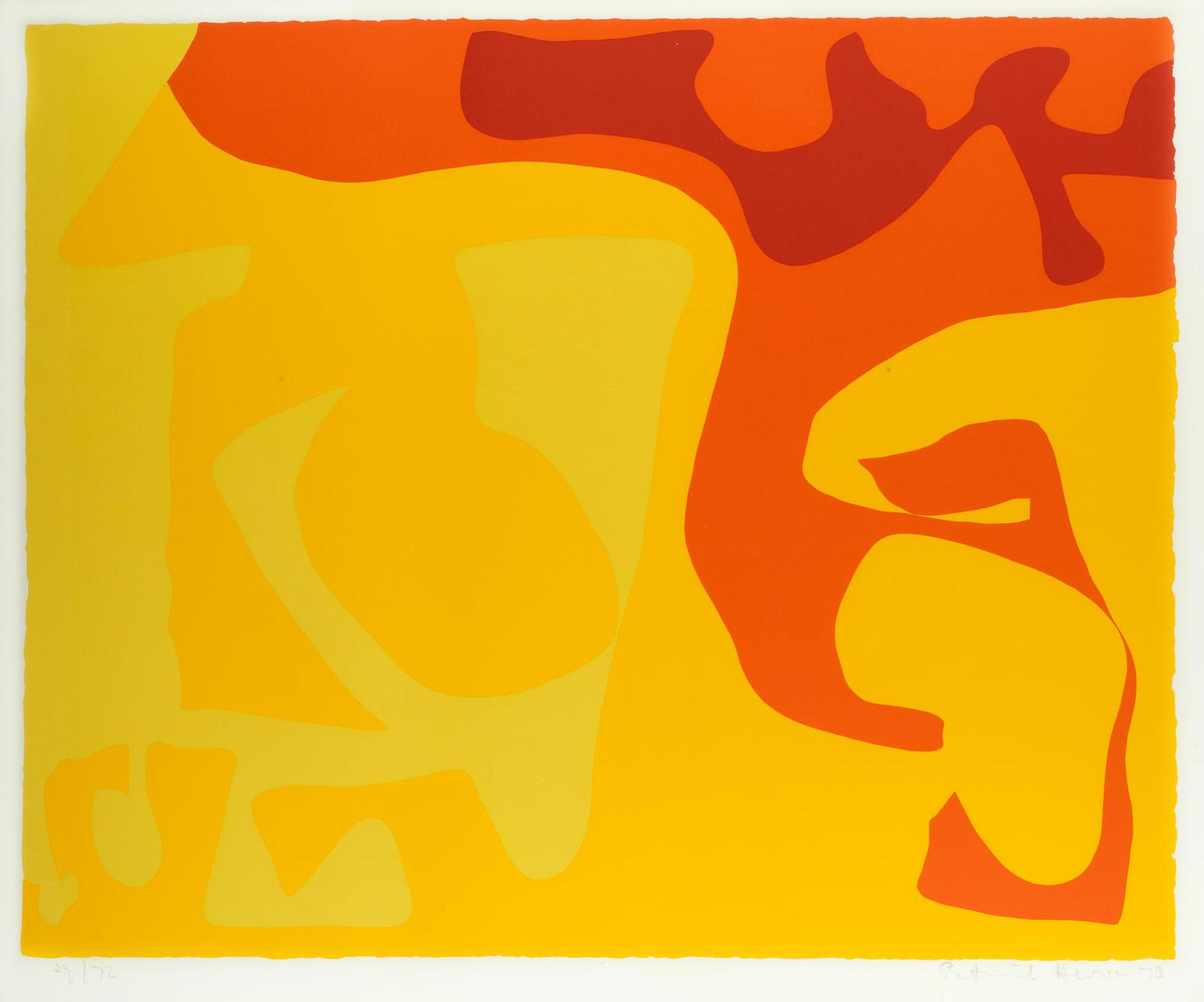 Patrick Heron-Small Yellow: January 1973-1973