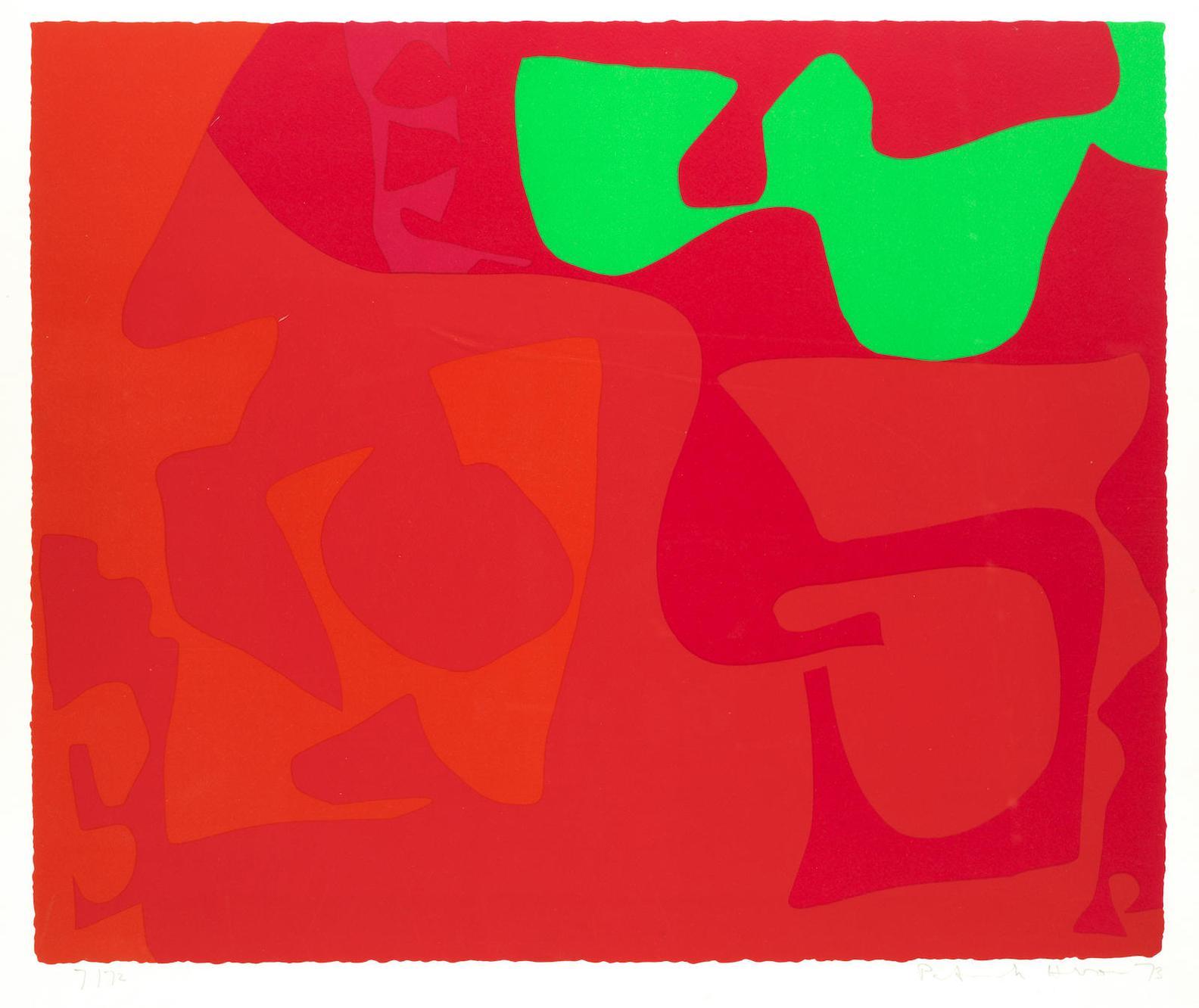 Patrick Heron-Small Red: January 1973 : 2-1973