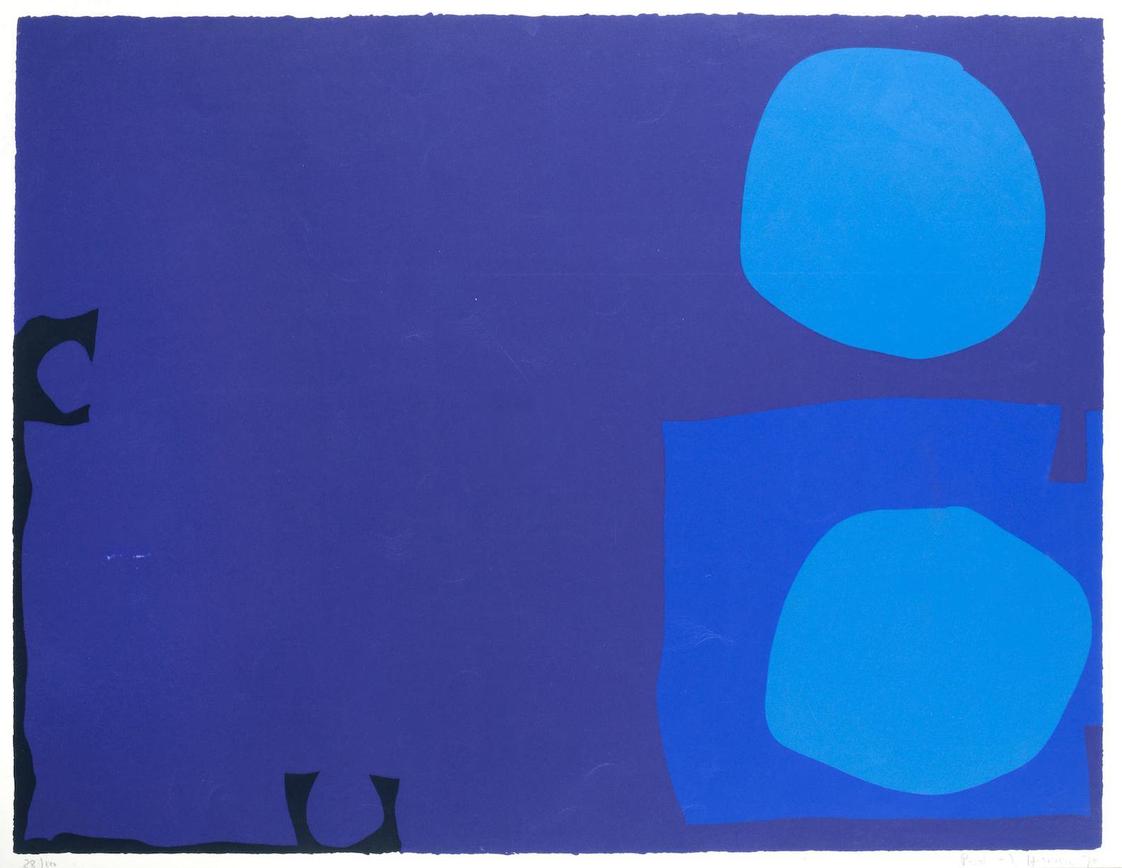 Patrick Heron-Four Blues, Two Discs-1970