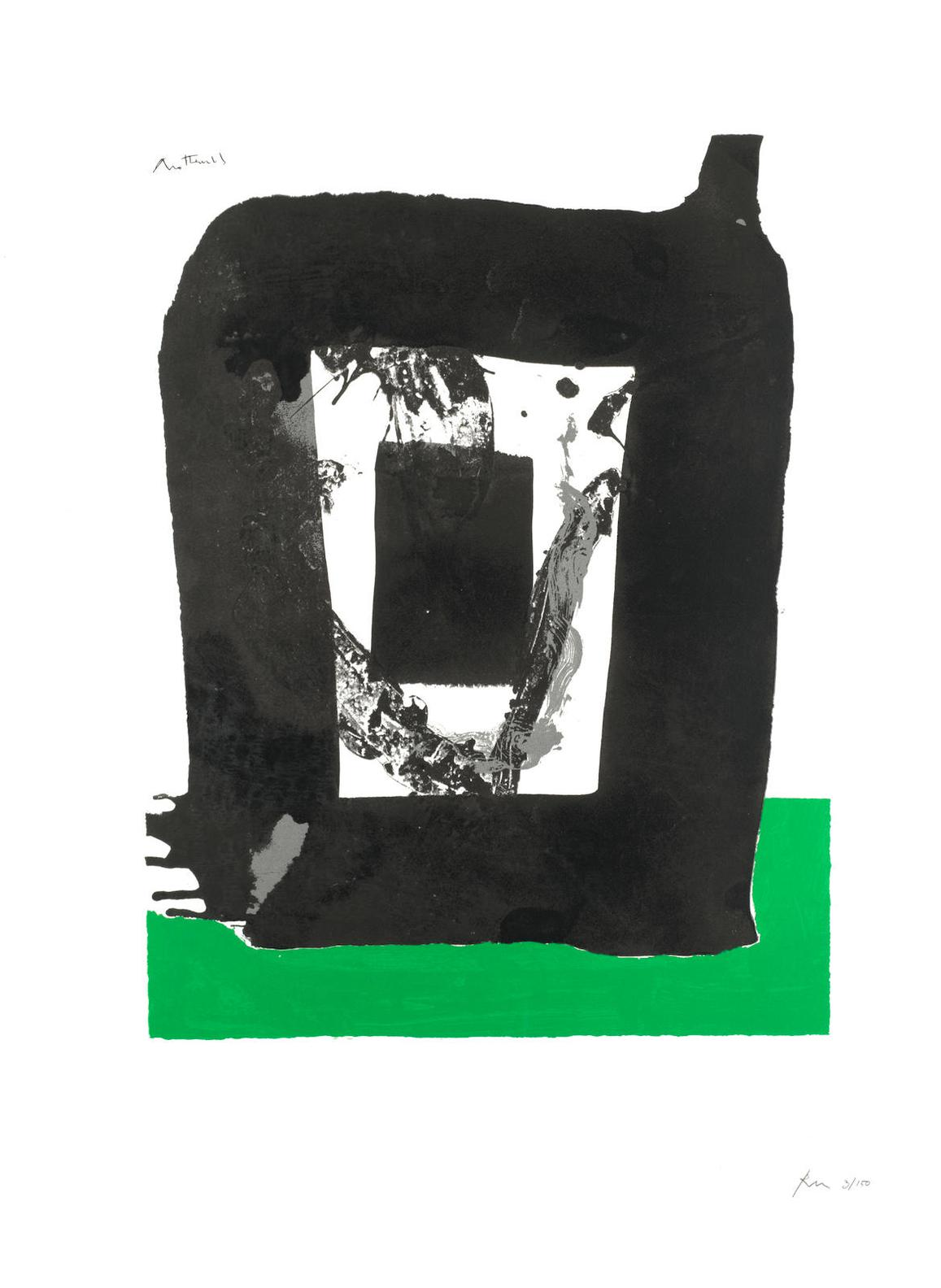 Robert Motherwell-Untitled, From Basque Suite-1971
