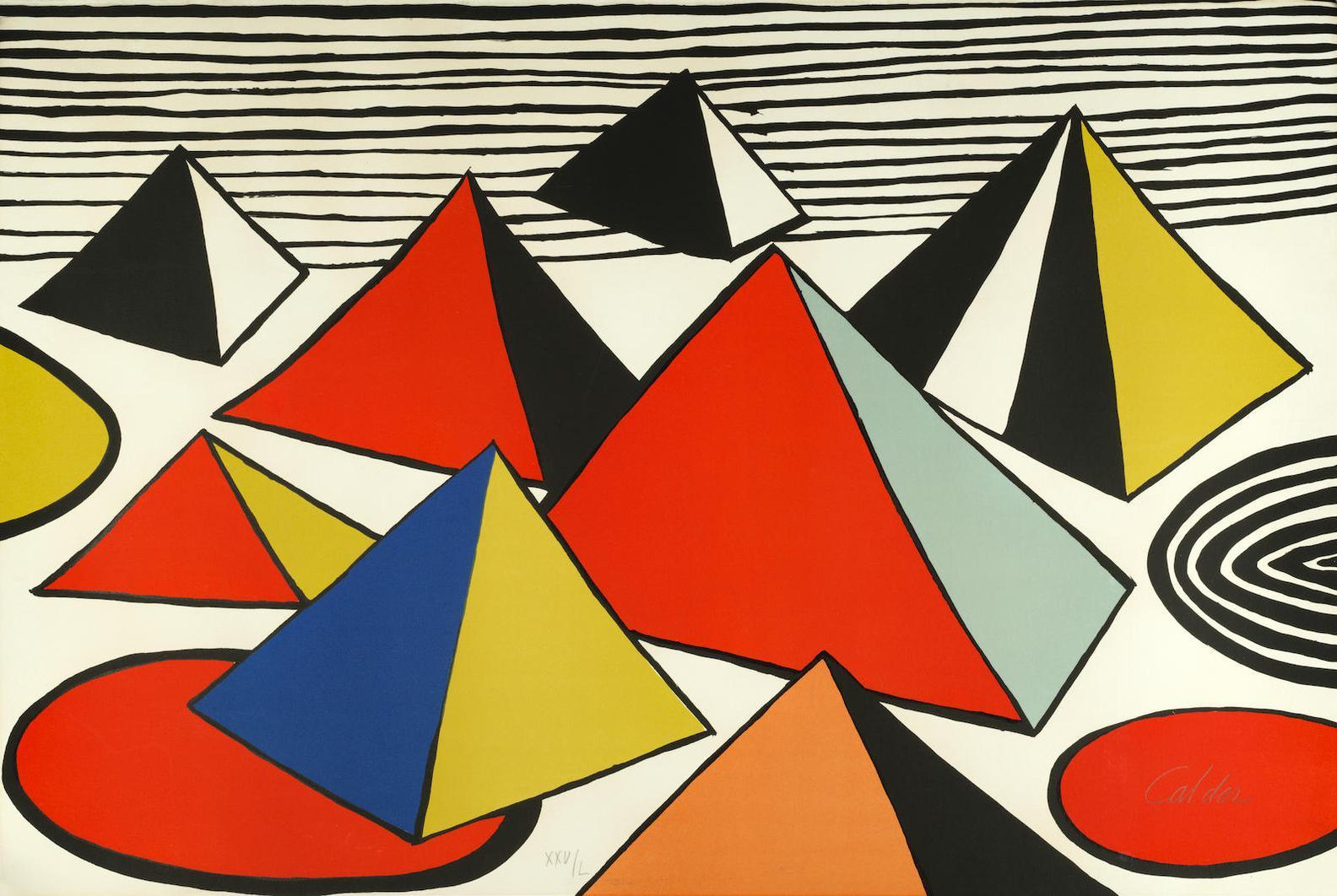 Alexander Calder-Pyramids II-1975