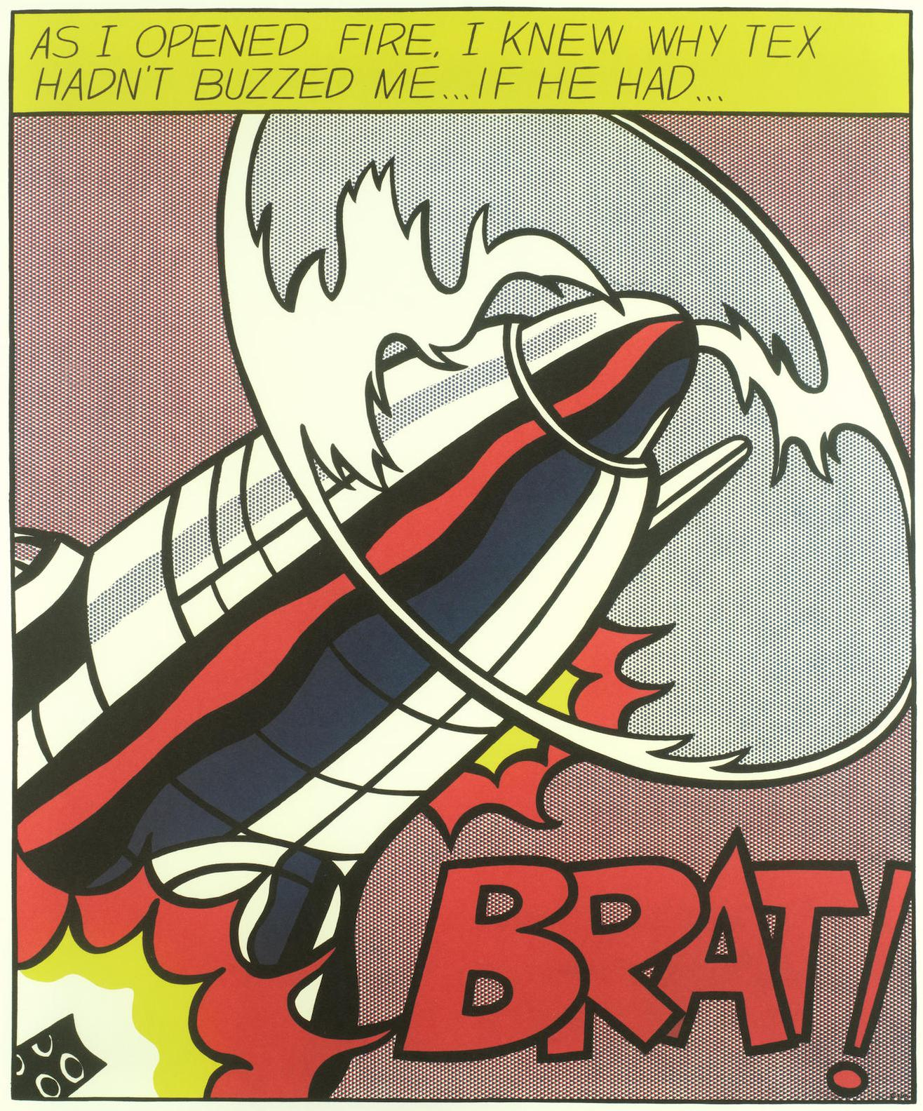 After Roy Lichtenstein - As I Opened Fire (Triptych)-1966