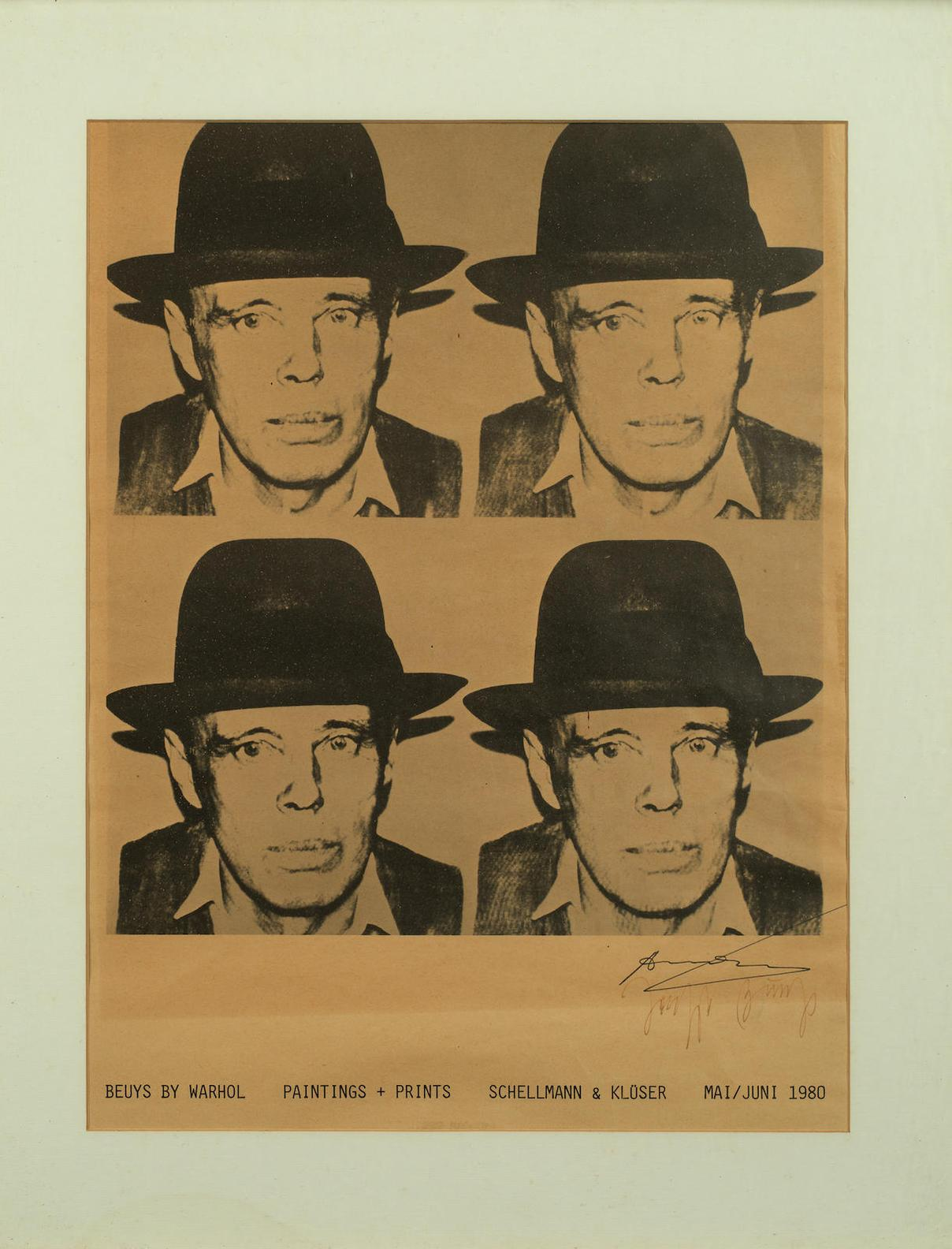 Andy Warhol-Beuys By Warhol: Paintings + Prints, Schellmann & Kluser, Munich-1980