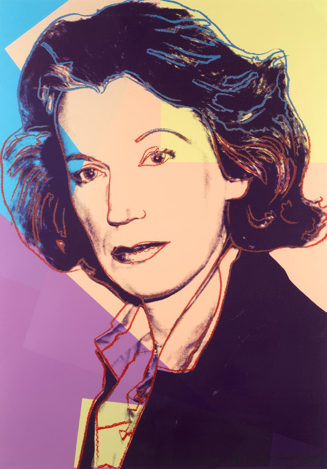 Andy Warhol-Mildred Scheel-1980