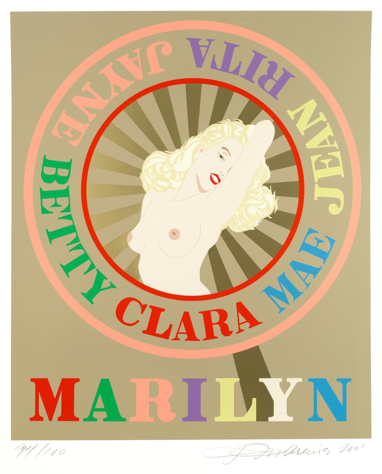 Robert Indiana-Sunburst Marilyn-2001