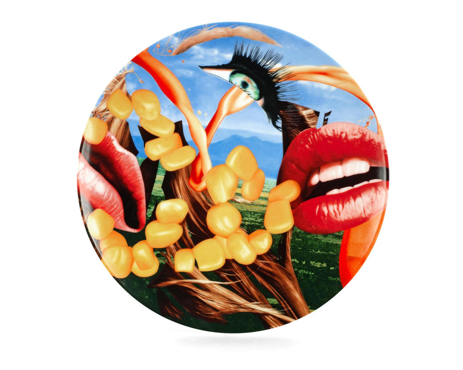 Jeff Koons-Lips Plate-2012