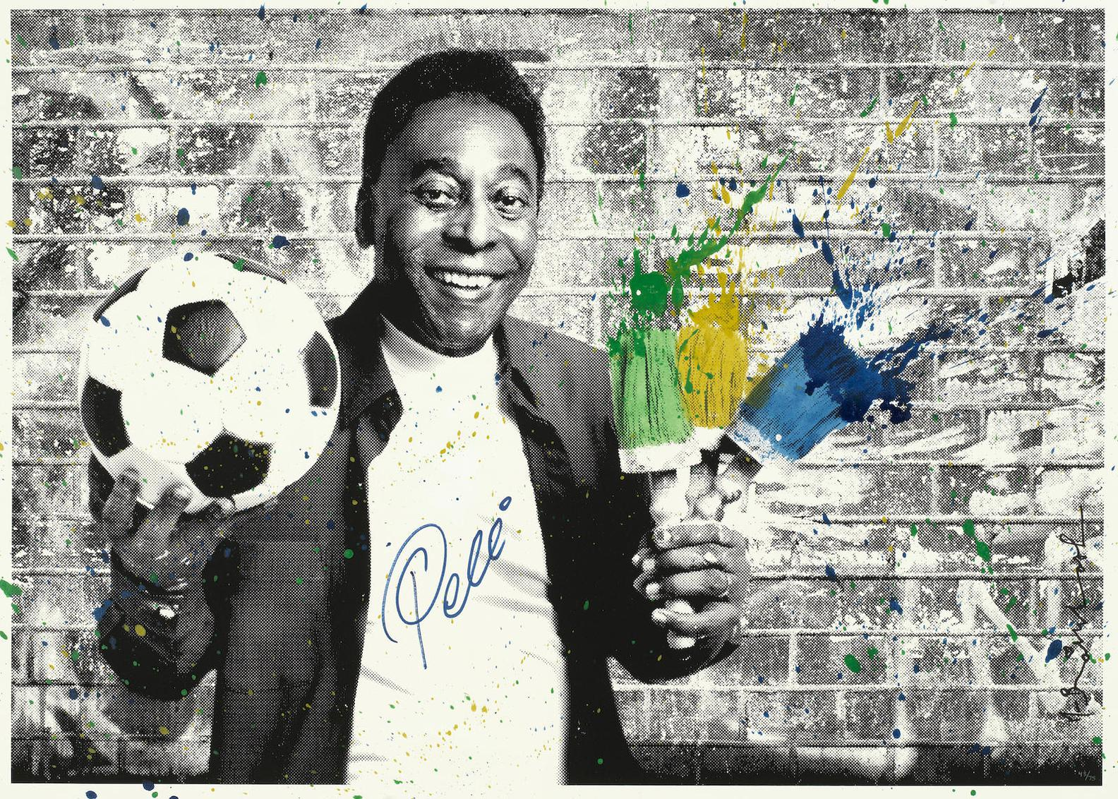 Mr. Brainwash-The King Pele - Portrait-2016