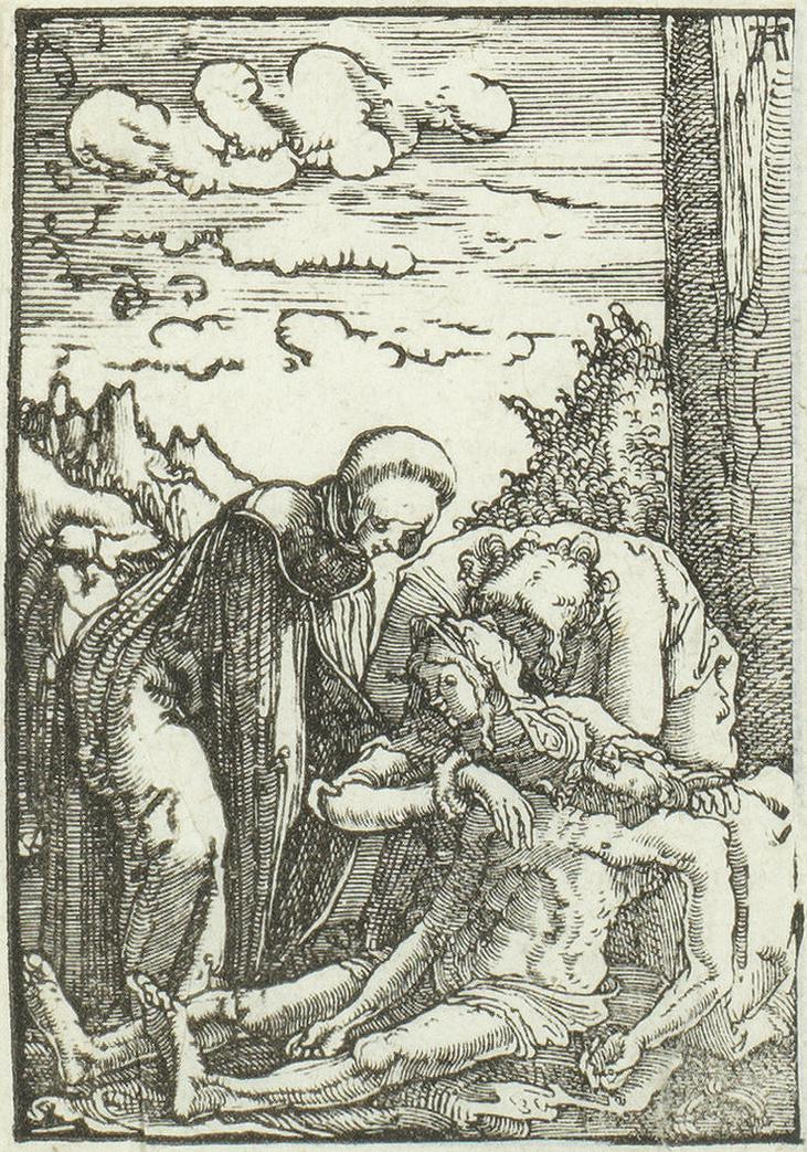 Albrecht Altdorfer - Lamentation; Expulsion Of The Money-Changers From The Temple; Expulsion of the Money-changers-1519