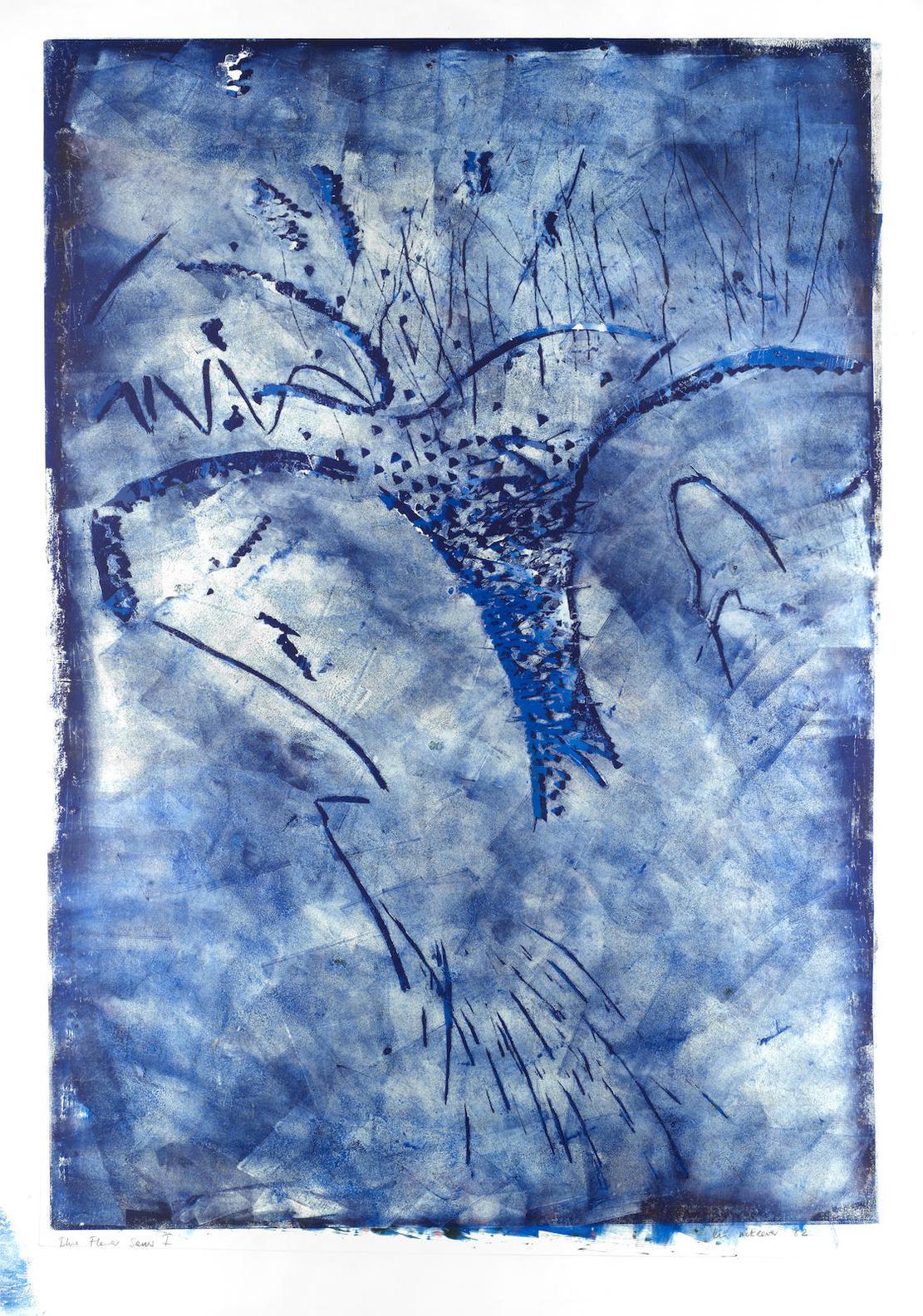 Ian Mckeever Ra - Blue Flower Series I & III-1982
