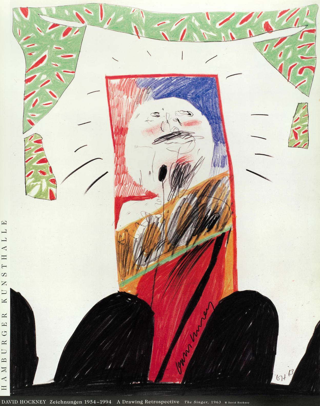 David Hockney-Hamburger Kunsthalle Exhibition Poster-1994