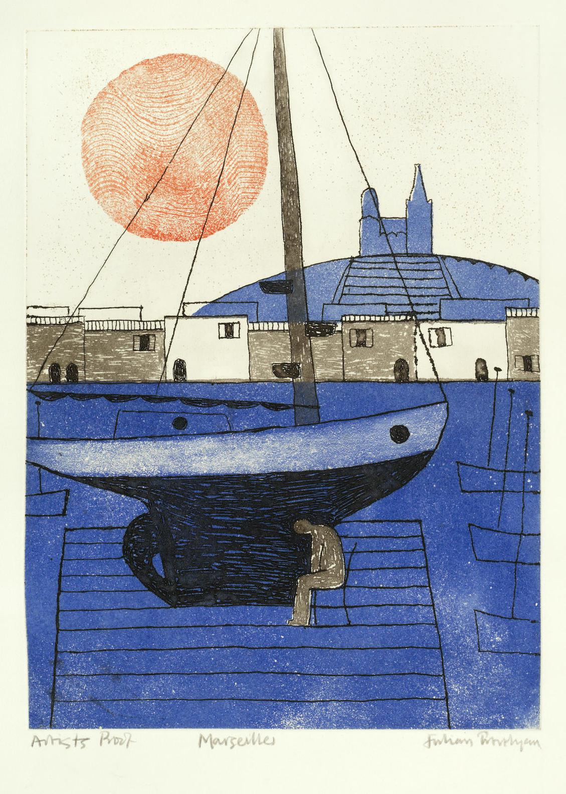 Julian Trevelyan-Marseilles-1975
