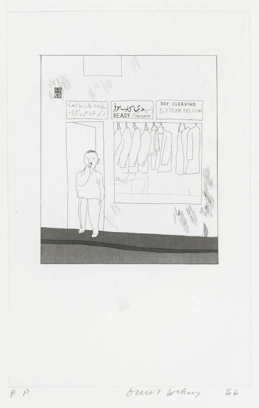 David Hockney-To Remain, From Illustrations For Fourteen Poems From C.P. Cavafy-1966