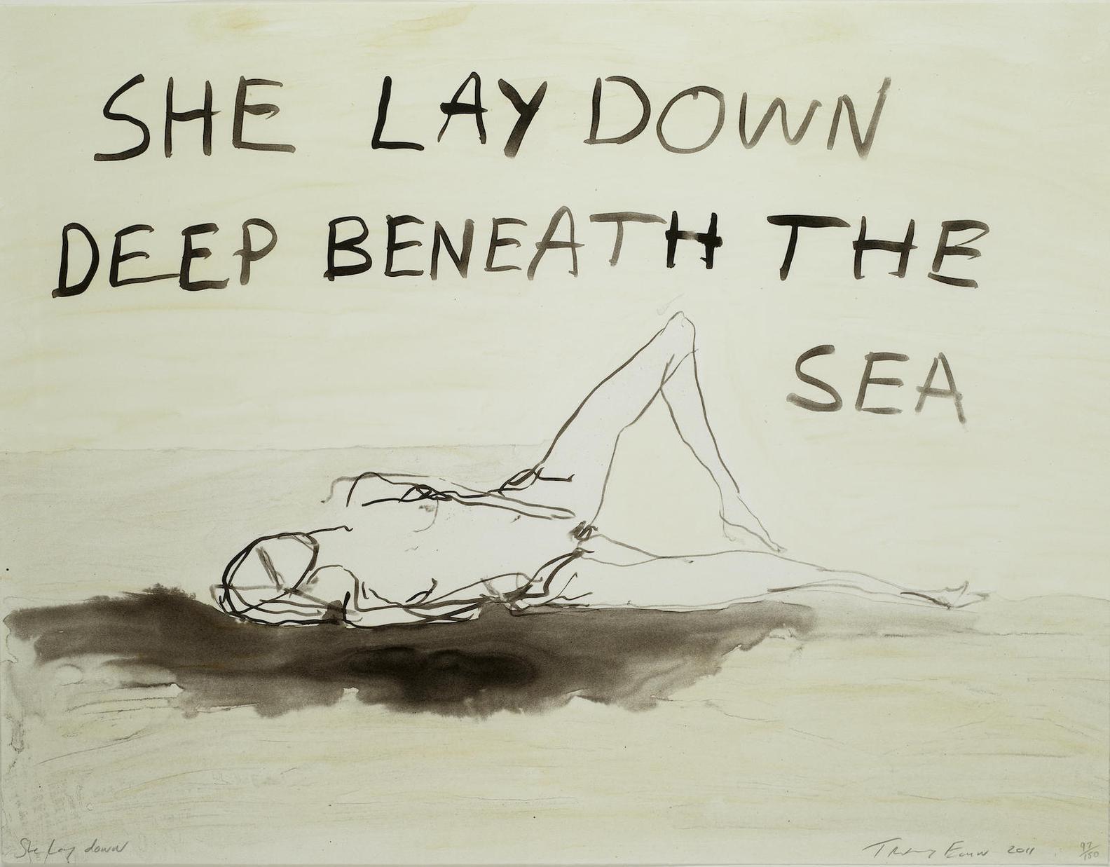 Tracey Emin-She Lay Down-2011