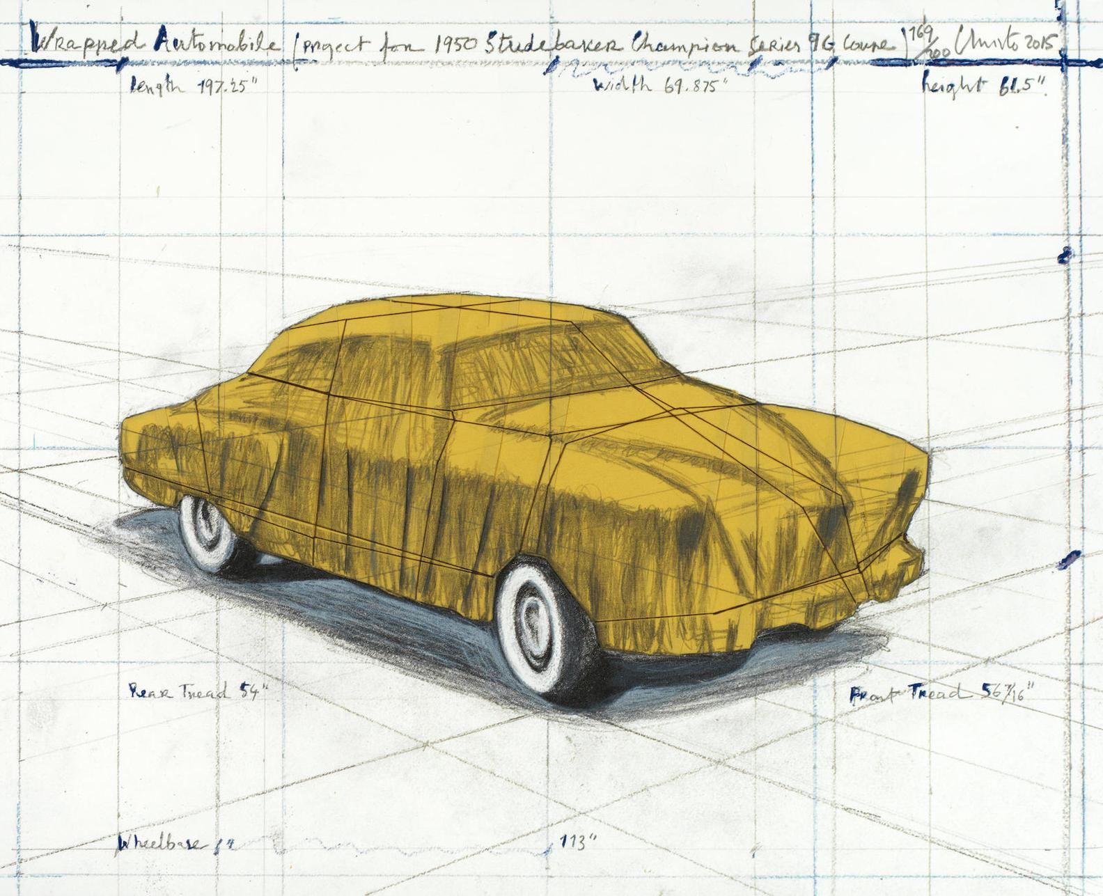 Christo and Jeanne-Claude-Wrapped Automobile (Project For 1950 Studebaker Champion, Series 9 G Coupe)-2015