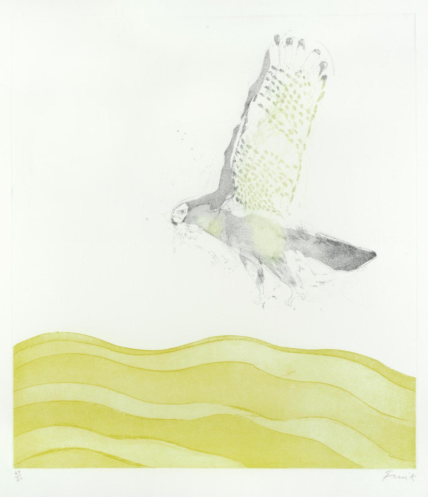 Elisabeth Frink-Sparrow Hawk-1974