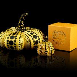 Yayoi Kusama-Two Pumpkins (Yellow & Black)-2012