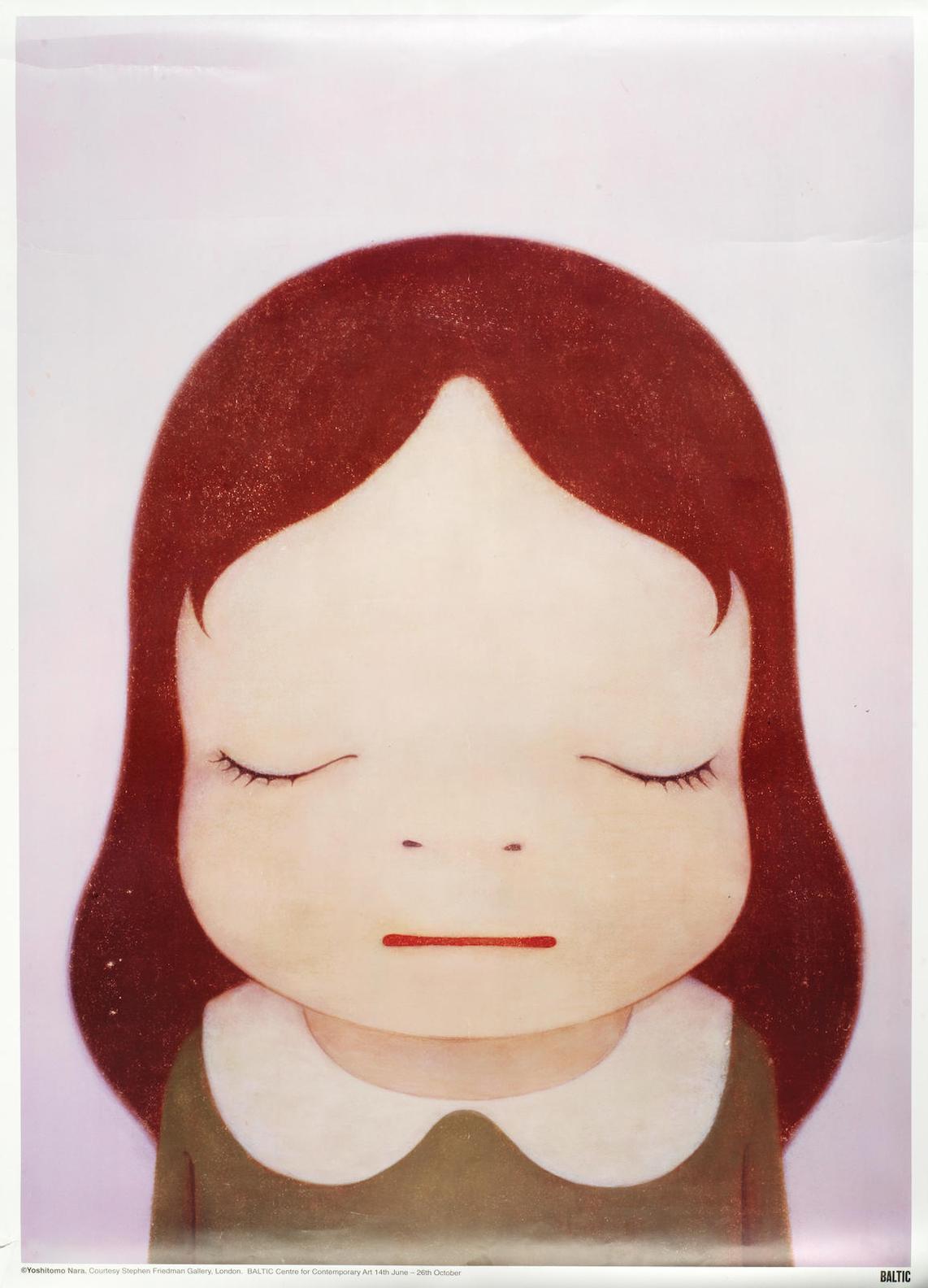 Yoshitomo Nara-Cosmic Girl Eyes Open; Cosmic Girl Eyes-2008