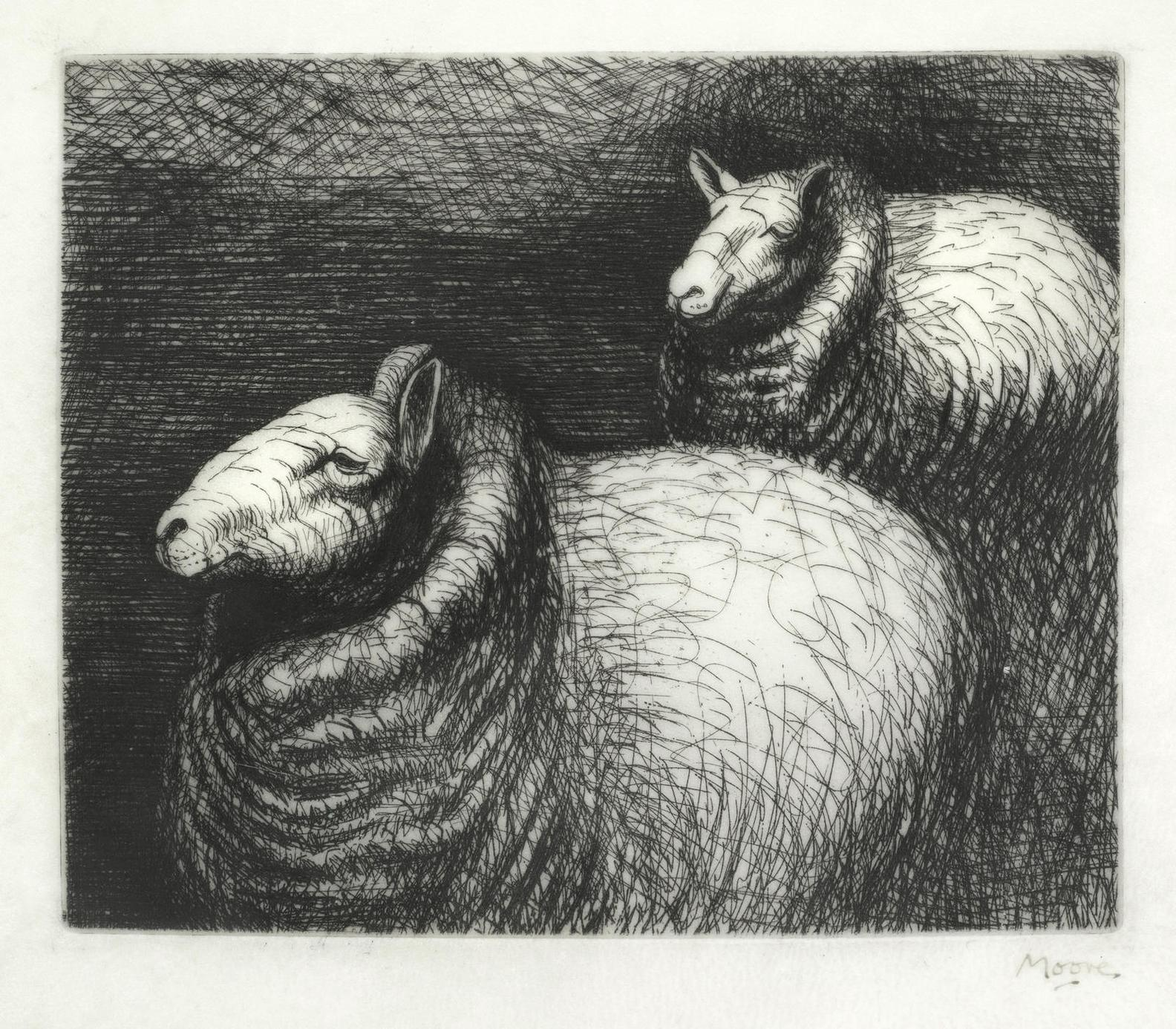 Henry Moore-Ready For Shearing, From Sheep Album-1974