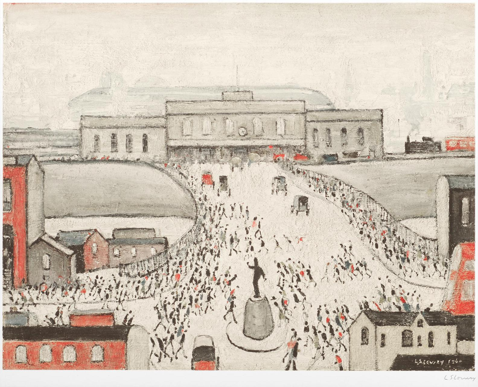 Laurence Stephen Lowry-Station Approach-