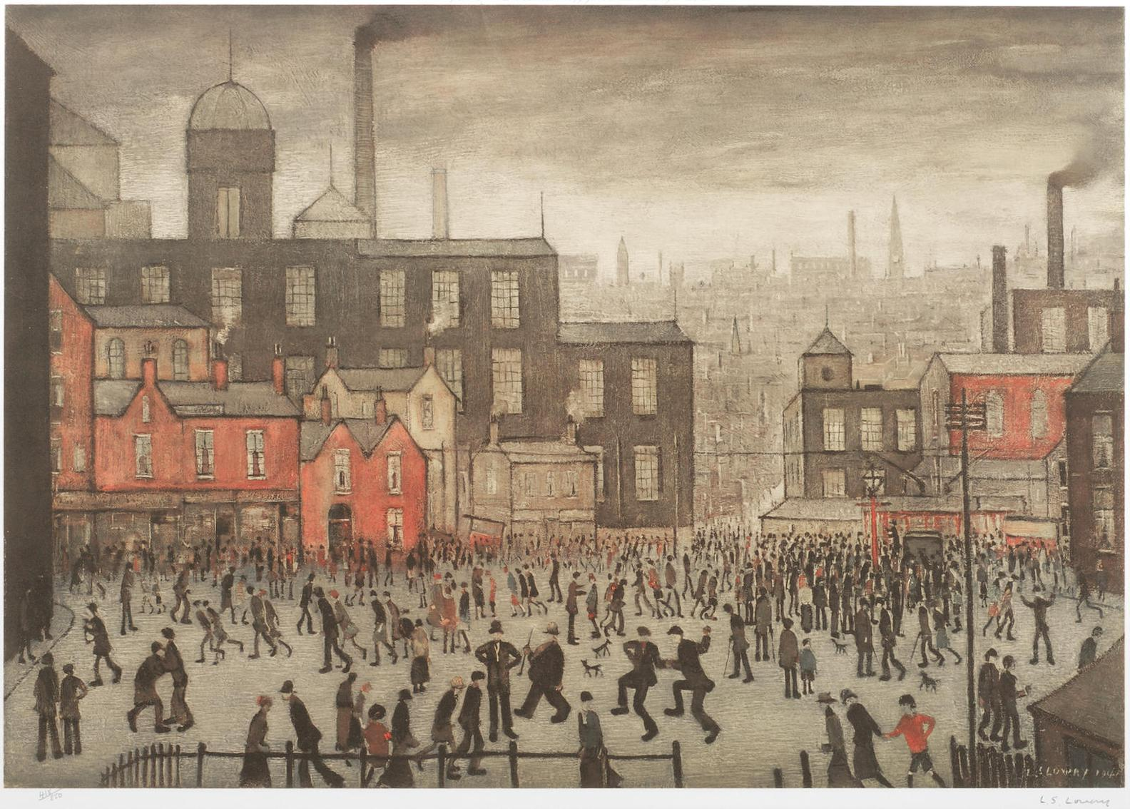 Laurence Stephen Lowry-Our Town-