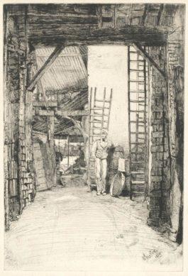James Abbott McNeill Whistler-The Lime-Burner, From The Thames Set-1859