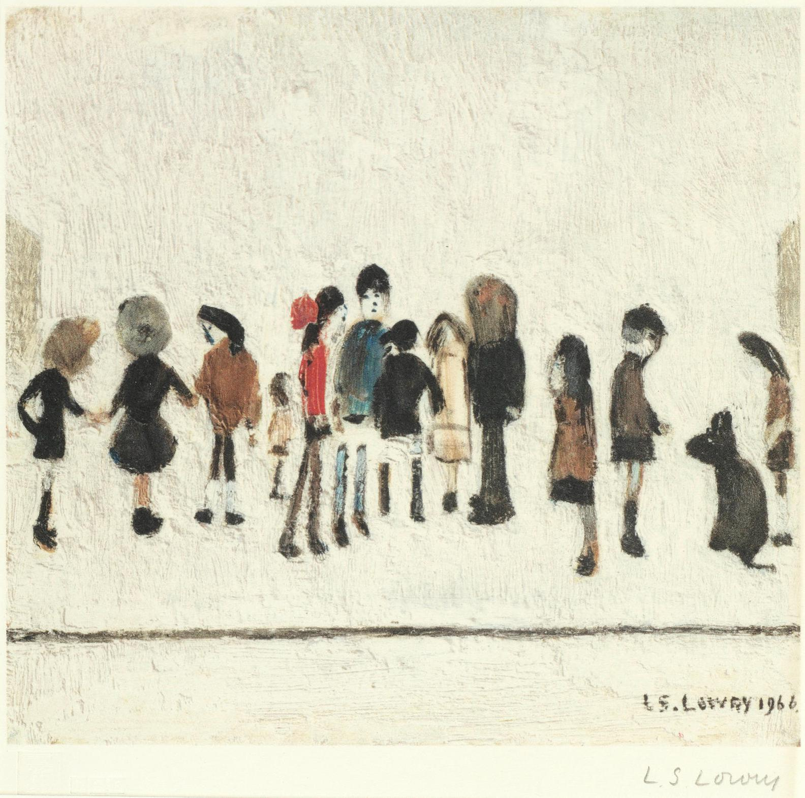 Laurence Stephen Lowry-Group Of Children; Nursery Sketch-