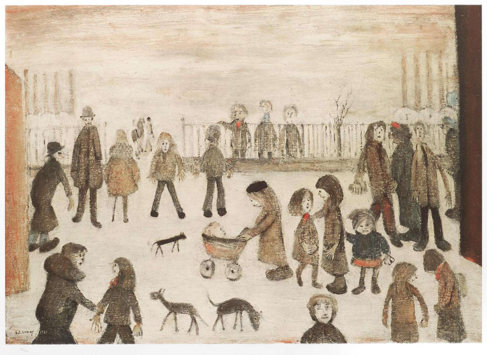 Laurence Stephen Lowry-The Park-1974