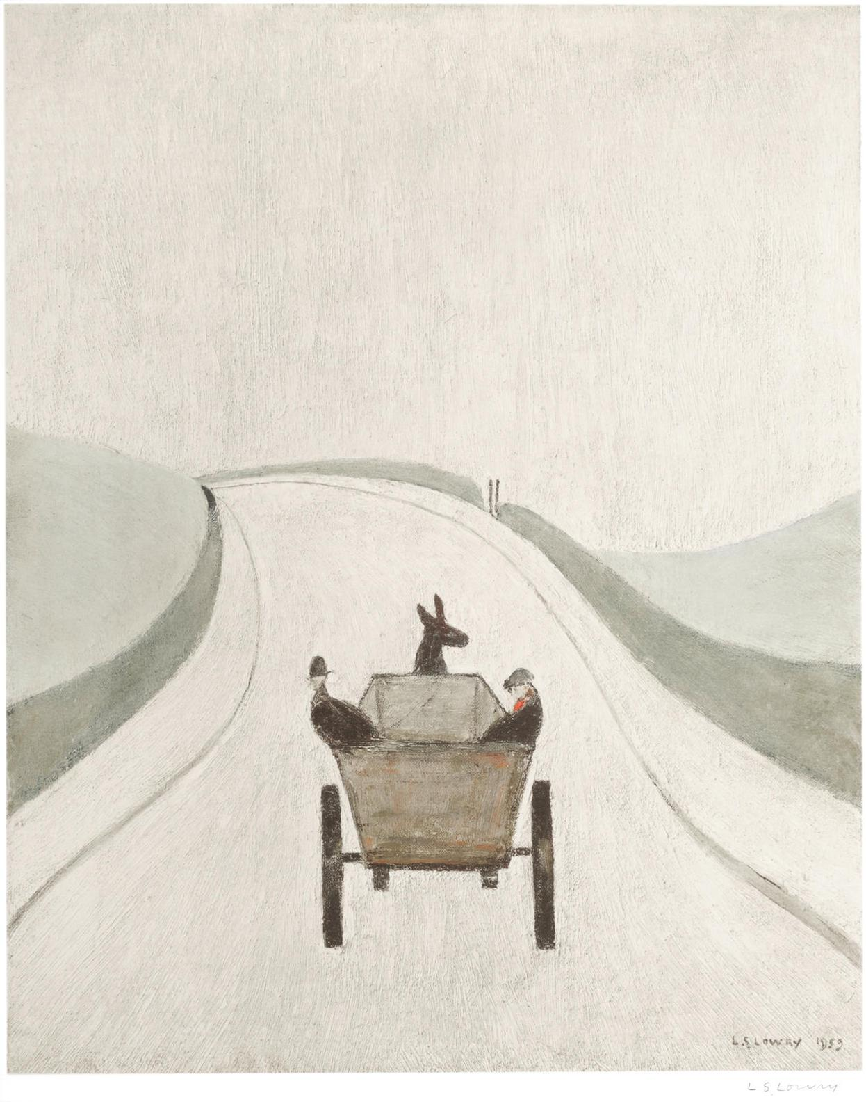 Laurence Stephen Lowry-The Cart-