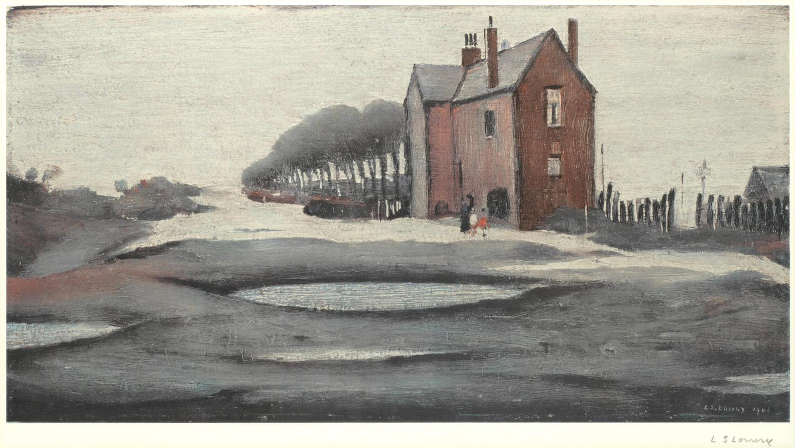 Laurence Stephen Lowry-Lonely House-