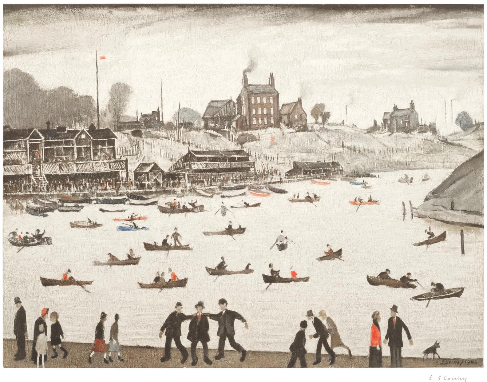 Laurence Stephen Lowry-Crime Lake-1972