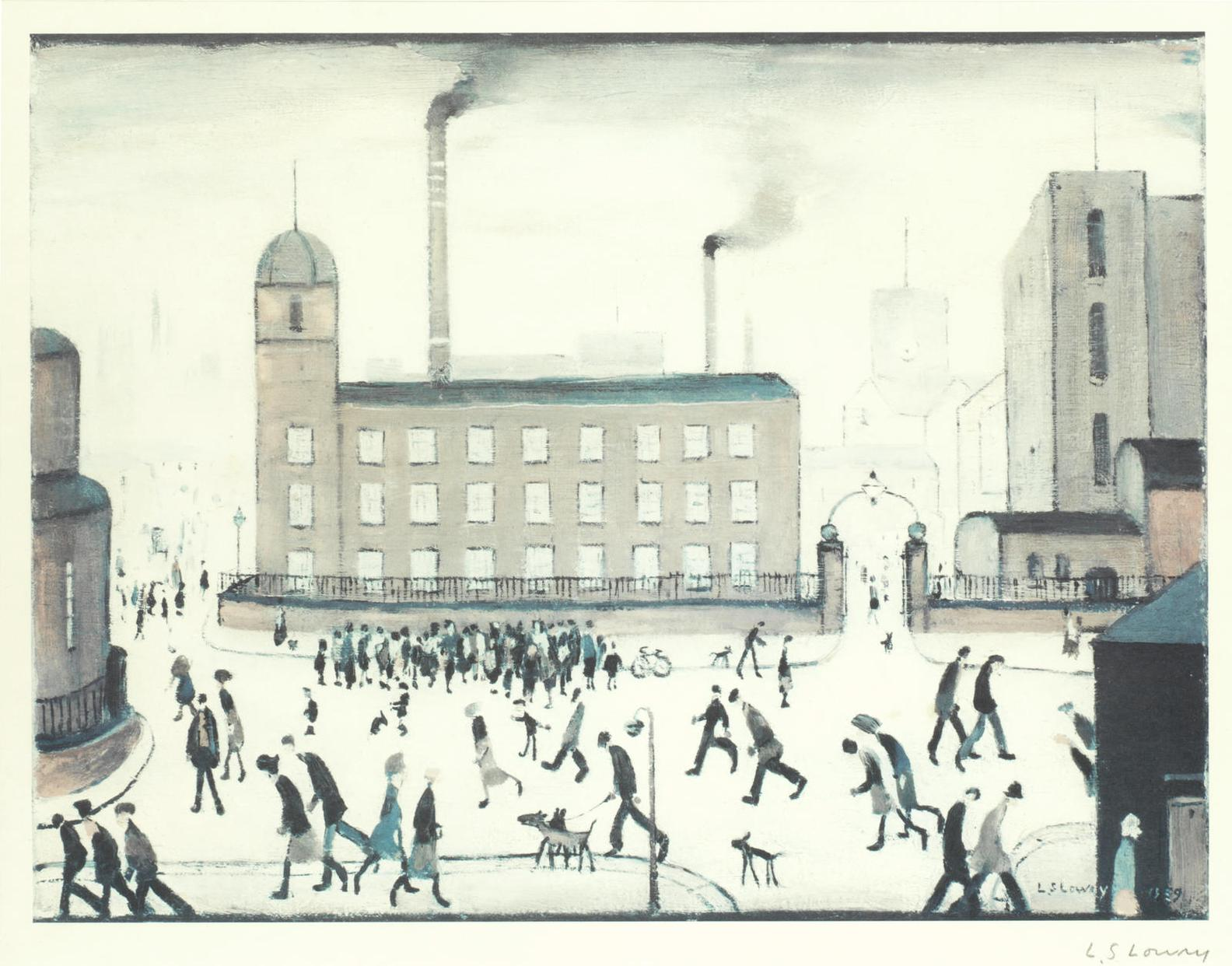 Laurence Stephen Lowry-Mill Scene-
