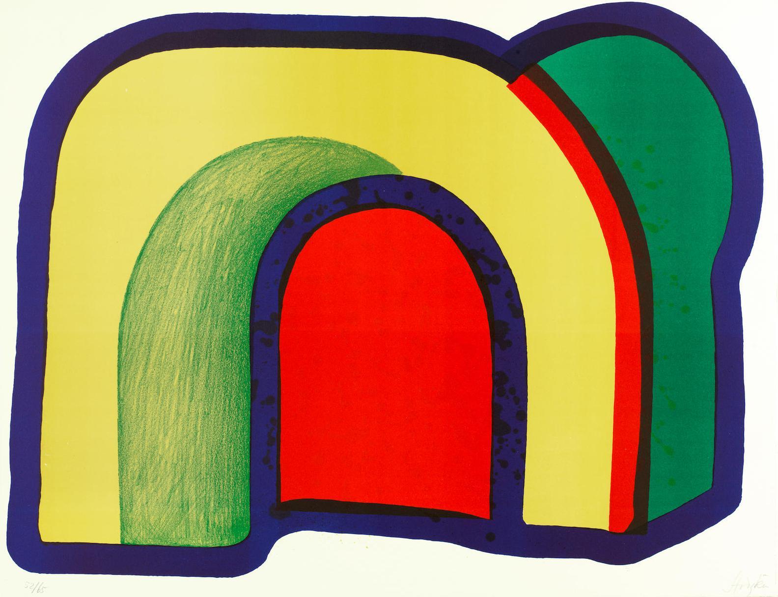 Howard Hodgkin-Composition With Red (Also Called Arch), From 'Europaische Graphik Vii. Englische Kunstler'-1970